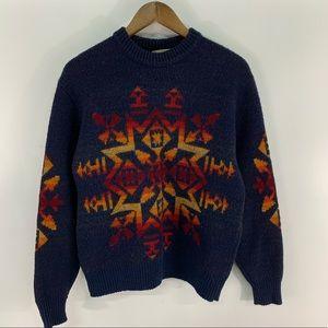 Vintage Pendleton Wool Aztec Sweater